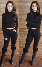 Selena Gomez Pantalones Ajustados Con Botas